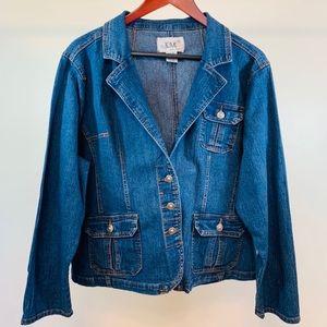Live A Little Women's Plus Denim Jacket Size 3X